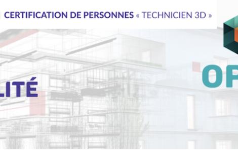 Certification de personnes Technicien Numérisation 3D - Assemblage 3D